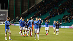 Rangers applaud their supporters at full time