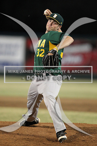 Siena Saints Neil Fryer #32 during a game vs Stetson Hatters at Melching Field in De Land, Florida;  March 16, 2011.  Stetson defeated Siena 5-1.  Photo By Mike Janes/Four Seam Images