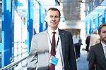 © Joel Goodman - 07973 332324 . 04/10/2016 . Birmingham , UK . JEREMY HUNT crosses from the conference centre to the hotel on the third day of the Conservative Party Conference at the International Convention Centre in Birmingham . Photo credit : Joel Goodman