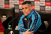 Press Conference Napoli at eve of Europe League quarter final 2 leg<br /> Jose Callejon of Napoli
