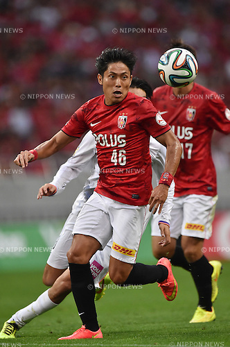 Ryota Moriwaki (Reds),<br /> AUGUST 16, 2014 - Football / Soccer :<br /> 2014 J.League Division 1 match between Urawa Red Diamonds 1-0 Sanfrecce Hiroshima at Saitama Stadium 2002 in Saitama, Japan. (Photo by AFLO)