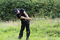 Scott Henry (SCO) in the deep rough for his 3rd shot on the 18th hole during Sunday's Final Round of the Northern Ireland Open 2018 presented by Modest Golf held at Galgorm Castle Golf Club, Ballymena, Northern Ireland. 19th August 2018.<br /> Picture: Eoin Clarke | Golffile<br /> <br /> <br /> All photos usage must carry mandatory copyright credit (&copy; Golffile | Eoin Clarke)