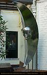 Half Moon Sculpture, Brouwerij de Halve Maan, Walplein, Bruges, Brugge, Belgium