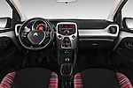 Stock photo of straight dashboard view of 2015 Citroen C1 Airscape-Feel-Edition 3 Door Micro Car Dashboard
