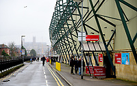 A general view of Sincil Bank, home of Lincoln City FC<br /> <br /> Photographer Andrew Vaughan/CameraSport<br /> <br /> The Emirates FA Cup Second Round - Lincoln City v Carlisle United - Saturday 1st December 2018 - Sincil Bank - Lincoln<br />  <br /> World Copyright © 2018 CameraSport. All rights reserved. 43 Linden Ave. Countesthorpe. Leicester. England. LE8 5PG - Tel: +44 (0) 116 277 4147 - admin@camerasport.com - www.camerasport.com