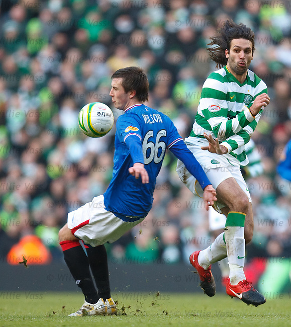 Danny Wilson halts the progress of Georgios Samaras