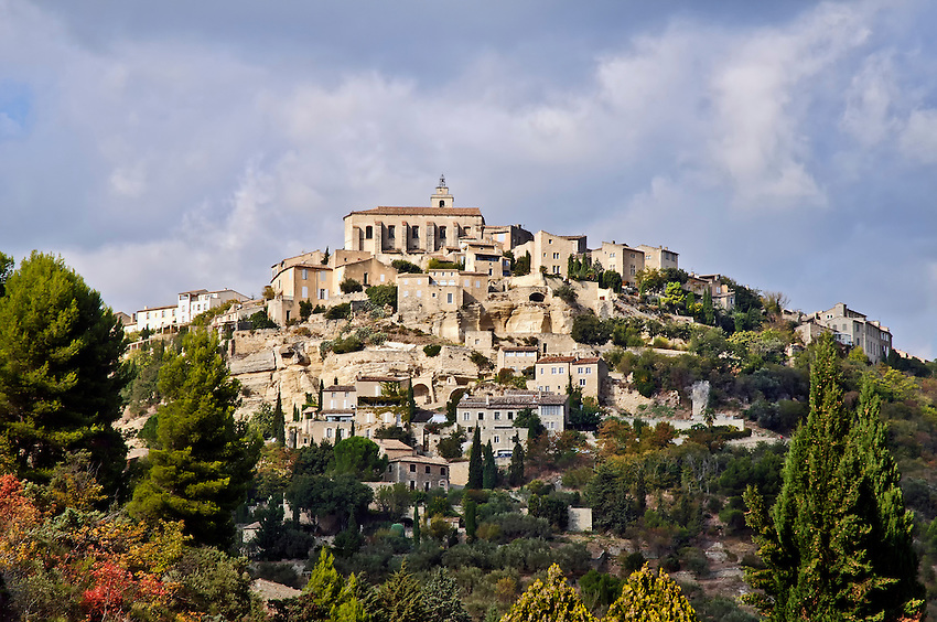 View of Gordes from the road on the way into town