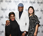 "Denise Manning, Ronald Peet and Kahyun Kim attending the Opening Night Performance for The Vineyard Theatre production of  ""Do You Feel Anger?"" at the Vineyard Theatre on April 2, 2019 in New York City."