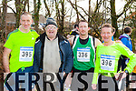 Tony Foley Killorglin, Tom Joe O'Donoghue, Ger and Patrick O'Shea Iveragh at the starting line of the Gneeveguilla AC winter race series in Killarney on Saturday