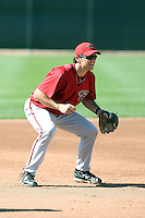 Ryan Wheeler #46 of the Arizona Diamondbacks participates in spring training workouts at the Diamondbacks minor league complex on March 13, 2011  in Scottsdale, Arizona. .Photo by:  Bill Mitchell/Four Seam Images.