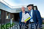 John Brassil TD and Michael Helay Rae TD at University Hospital Kerry on Monday