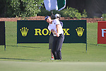 Robert Karlsson chips onto the 18th green during Day 1 of the Dubai World Championship, Earth Course, Jumeirah Golf Estates, Dubai, 25th November 2010..(Picture Eoin Clarke/www.golffile.ie)