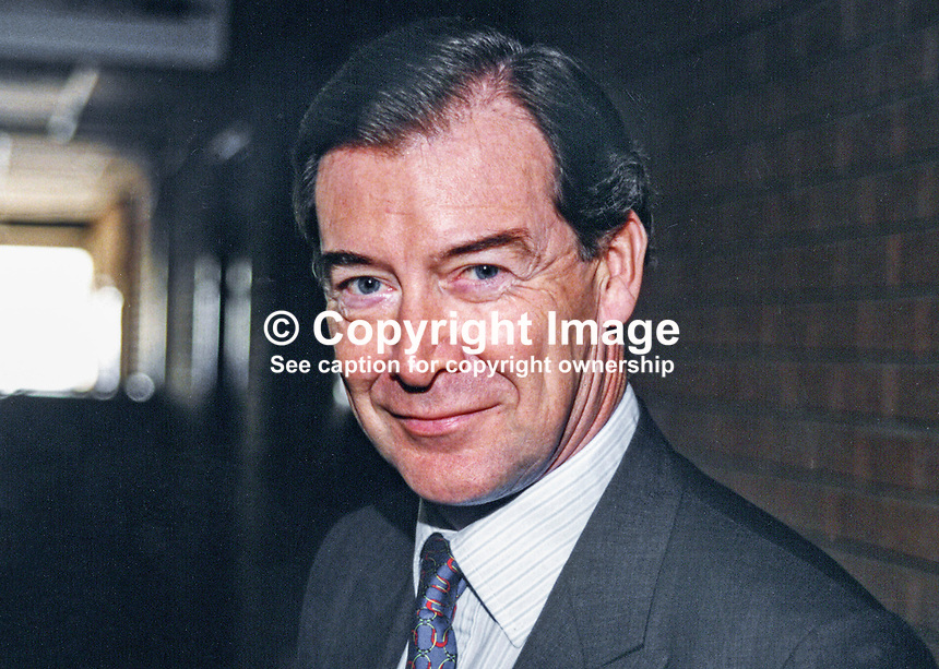Ian Lang, MP, Conservative Party, Britain, UK, 19961043IL<br /> <br /> Copyright Image from Victor Patterson, 54 Dorchester Park, <br /> Belfast, UK, BT9 6RJ<br /> <br /> t1: +44 28 9066 1296 (from Rep of Ireland 048 9066 1296)<br /> t2: +44 28 9002 2446 (from Rep of Ireland 048 9002 2446)<br /> m: +44 7802 353836<br /> <br /> e: victorpatterson@me.com<br /> www.victorpatterson.com<br /> <br /> Please see my Terms and Conditions of Use at www.victorpatterson.com. It is IMPORTANT that you familiarise yourself with them.<br /> <br /> Images used on the Internet must be visibly watermarked i.e. &copy; Victor Patterson<br /> within the body of the image and copyright metadata must not be deleted. Images <br /> used on the Internet have a size restriction of 4kbs and will be chargeable at current<br />  NUJ rates unless agreed otherwise.<br /> <br /> This image is only available for the use of the download recipient i.e. television station, newspaper, magazine, book publisher, etc, and must not be passed on to any third <br /> party. It is also downloaded on condition that each and every usage is notified within 7 days to victorpatterson@me.com<br /> <br /> The right of Victor Patterson to be identified as the author is asserted in accordance with The Copyright Designs And Patents Act (1988). All moral rights are asserted