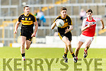 Kieran O'Leary Dr Crokes in action against Tom Leo O'Sullivan Dingle in the Senior County Football Semi Final in Fitzgerald Stadium on Sunday.