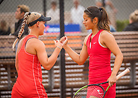Amstelveen, Netherlands, 1 August 2020, NTC, National Tennis Center, National Tennis Championships, Women's double final: Suzan Lamens (NED) and Arianne Hartono (NED).<br /> Photo: Henk Koster/tennisimages.com