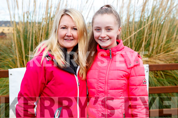 Carmel and Katie Ross, Caherleaheen, Tralee, pictured at the Operation Transformation Walk at Tralee Bay Wetlands on Saturday morning last.
