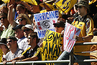 Hurricanes fans..Super 14 rugby union match, Hurricanes v Cheetahs at Yarrows Stadium, New Plymouth, New Zealand. Saturday 7 March 2009. Photo: Dave Lintott / lintottphoto.co.nz