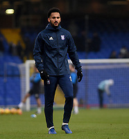 Ipswich Town's Jordan Roberts during the pre-match warm-up <br /> <br /> Photographer Hannah Fountain/CameraSport<br /> <br /> The EFL Sky Bet Championship - Ipswich Town v Wigan Athletic - Saturday 15th December 2018 - Portman Road - Ipswich<br /> <br /> World Copyright &copy; 2018 CameraSport. All rights reserved. 43 Linden Ave. Countesthorpe. Leicester. England. LE8 5PG - Tel: +44 (0) 116 277 4147 - admin@camerasport.com - www.camerasport.com