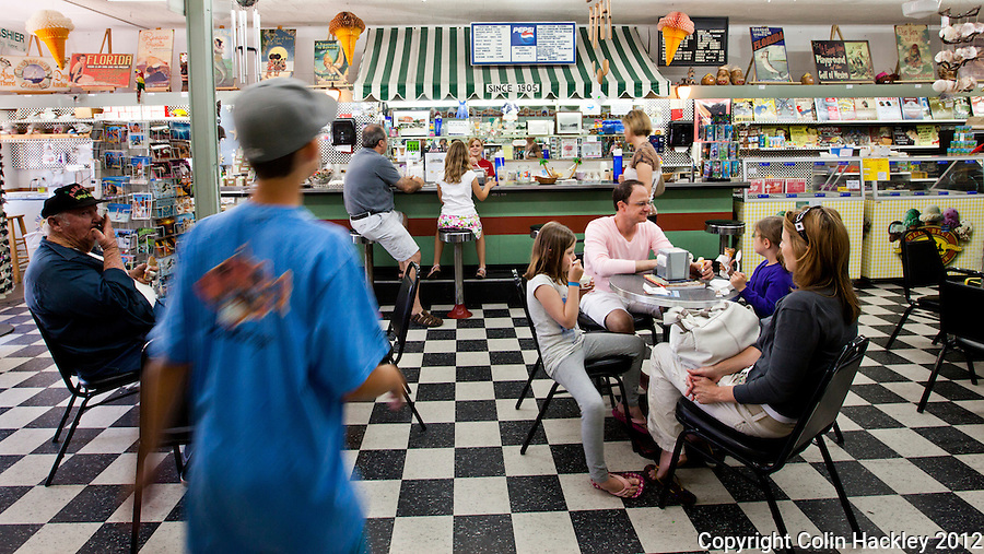 Apalachicola's Old Time Soda Fountain features fresh ice cream and treats made the old-fashioned way..COLIN HACKLEY PHOTO