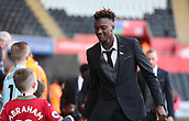 4th November 2017, Liberty Stadium, Swansea, Wales; EPL Premier League football, Swansea City versus Brighton and Hove Albion; Tammy Abraham of Swansea City arrives at The Liberty Stadium