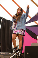 Comedian London Hughes performs on day 2 of the 2019 Latitude Festival at Henham Park, Suffolk. 20th July 2019<br /> <br /> Photo by Stuart Hogben