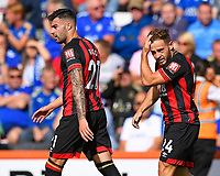 Ryan Fraser of AFC Bournemouth right scored the first goal during AFC Bournemouth vs Leicester City, Premier League Football at the Vitality Stadium on 15th September 2018