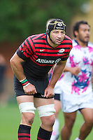 20120823 Copyright onEdition 2012©.Free for editorial use image, please credit: onEdition..Steve Borthwick of Saracens looks on at The Honourable Artillery Company, London in the pre-season friendly between Saracens and Stade Francais Paris...For press contacts contact: Sam Feasey at brandRapport on M: +44 (0)7717 757114 E: SFeasey@brand-rapport.com..If you require a higher resolution image or you have any other onEdition photographic enquiries, please contact onEdition on 0845 900 2 900 or email info@onEdition.com.This image is copyright the onEdition 2012©..This image has been supplied by onEdition and must be credited onEdition. The author is asserting his full Moral rights in relation to the publication of this image. Rights for onward transmission of any image or file is not granted or implied. Changing or deleting Copyright information is illegal as specified in the Copyright, Design and Patents Act 1988. If you are in any way unsure of your right to publish this image please contact onEdition on 0845 900 2 900 or email info@onEdition.com