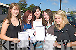 Pictured after getting their Junior Cert results on Wednesday at Mercy Mounthawk, Tralee were Saidhbhin Ni Gheallabhain, Meave Diggins, Jenna Keating, Ellen O'Leary and Karolina Lesniak.