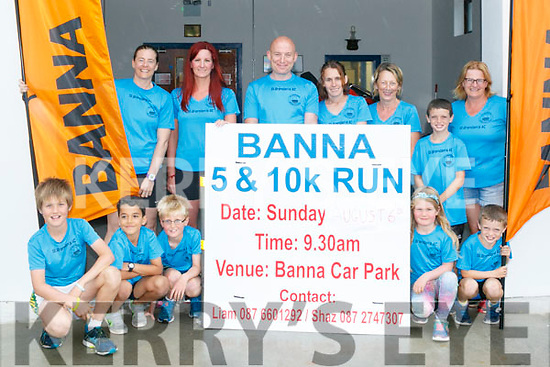 Members of St. Brendan's AC launch the Banna 10k Road Race and the 5k fun run on Sunday the 6th of August.The races begin at 9.30 from Banna sea rescue,everybody welcome. Pictured
