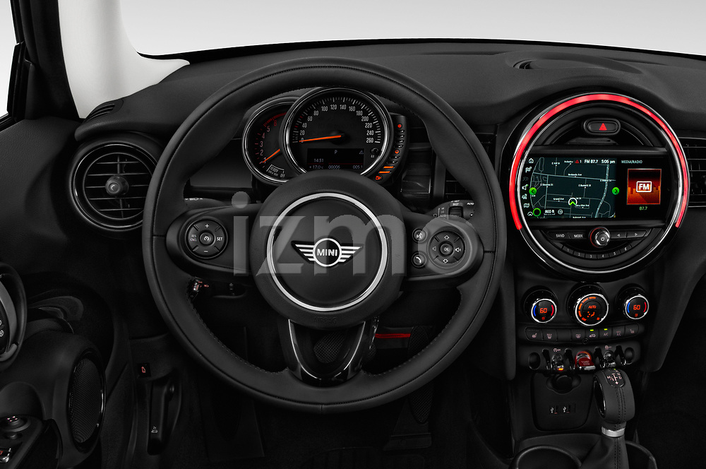Car pictures of steering wheel view of a 2019 Mini mini Cooper 3 Door Hatchback