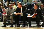 Reno Bighorns coaches watch the action in a basketball game against the Idaho Stampede on Sunday, April 1, 2012 in Reno, Nev. Idaho won 108-99..Photo by Cathleen Allison