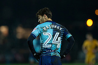 Scott Kashket of Wycombe Wanderers during the Sky Bet League 2 match between Newport County and Wycombe Wanderers at Rodney Parade, Newport, Wales on 22 November 2016. Photo by Mark  Hawkins.
