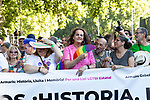Header of manifestation of the lgtb pride party of Madrid. July 6, 2019. (ALTERPHOTOS/JOHANA HERNANDEZ)