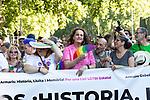 Header of manifestation of the lgtb pride party of Madrid. July 6, 2019. (ALTERPHOTOS/JOHANA HERNANDEZ)