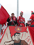 28 April 2007: Toronto FC fans. Major League Soccer expansion team Toronto FC lost 1-0 to the Kansas City Wizards in the inaugural game at BMO Field in Toronto, Ontario, Canada, the first MLS game played outside of the United States.