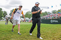 Shane Lowry (IRL) departs the 10th green during Sunday's final round of the PGA Championship at the Quail Hollow Club in Charlotte, North Carolina. 8/13/2017.<br /> Picture: Golffile | Ken Murray<br /> <br /> <br /> All photo usage must carry mandatory copyright credit (&copy; Golffile | Ken Murray)