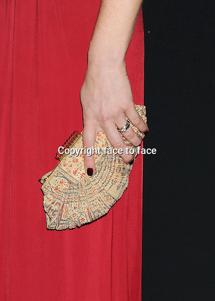 BEVERLY HILLS, CA- FEBRUARY 22: Actress Meredith Monroe (handbag, ring detail) at the 16th Costume Designers Guild Awards at The Beverly Hilton Hotel on February 22, 2014 in Beverly Hills, California.<br /> Credit: Mayer/face to face<br /> - No Rights for USA, Canada and France -