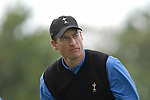 Ryder Cup 206 K Club, Straffan, Ireland..American Ryder Cup team player Jim Furyk keeps an eye on the ball after teeing off on the 5th hole during the morning fourballs session of the second day of the 2006 Ryder Cup at the K Club in Straffan, Co Kildare, in the Republic of Ireland, 23 September 2006...Photo: Eoin Clarke/ Newsfile.