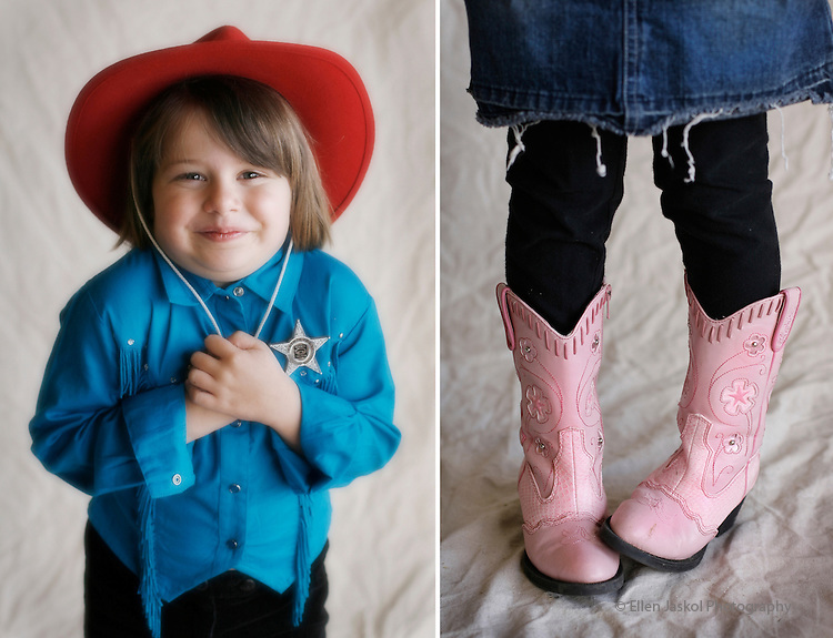 Best Cowgirl Personalities.  Isabella Kemp, 5, red cowboy hat, and her sister Ariana Kemp, 8 (in another photo),  have been attending the Stock Show since they were born.  These young Englewood cuties, already have a great sense of style.  Fashion at the Stock Show on January 7, 2007.  (ELLEN JASKOL/ROCKY MOUNTAIN NEWS).*** captions from reporter's email.