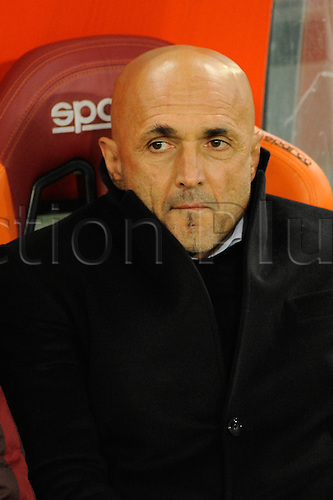 21.02.2016. Stadium Olimpico, Rome, Italy.  Serie A football league. AS Roma versus Palermo. SPALLETTI LUCIANO COACH OF AS ROMA