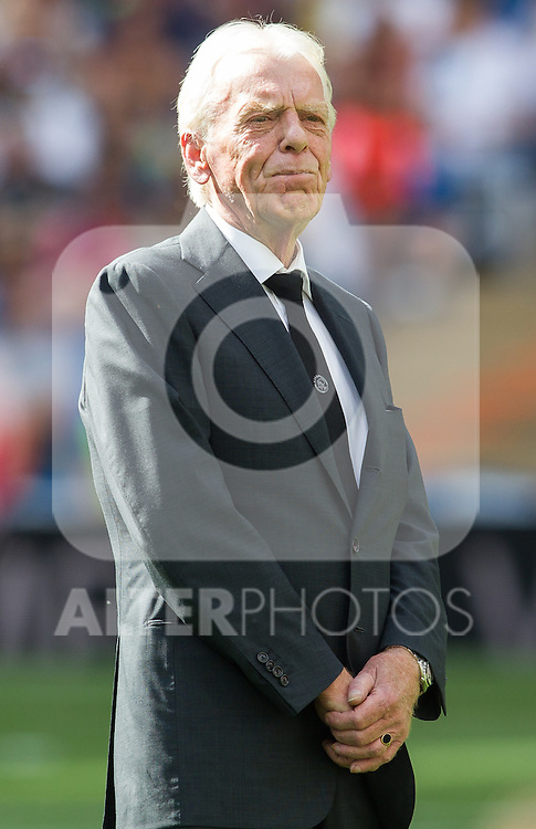 Leo Beenhakker during the Corazon Classic Match 2016 at Estadio Santiago Bernabeu between Real Madrid Legends and Ajax Legends. Jun 5,2016. (ALTERPHOTOS/Rodrigo Jimenez)