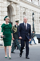 King Philippe of Belgium and Queen Mathilde of Belgium attend a royal visit in Vienna -  Austria