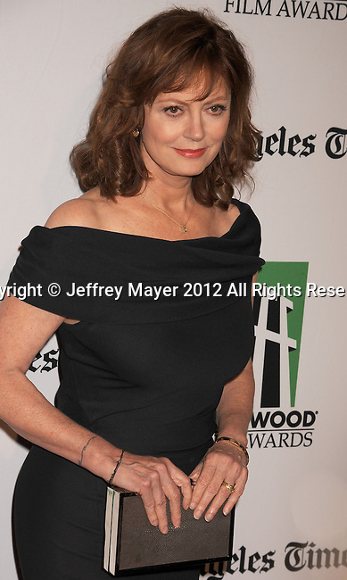BEVERLY HILLS, CA - OCTOBER 22: Susan Sarandon arrives at the 16th Annual Hollywood Film Awards Gala presented by The Los Angeles Times held at The Beverly Hilton Hotel on October 22, 2012 in Beverly Hills, California.