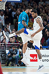 Real Madrid Jeffery Taylor and Trey Thompkins during Turkish Airlines Euroleague match between Real Madrid and Olympiacos Piraeus at Wizink Center in Madrid , Spain. February 09, 2018. (ALTERPHOTOS/Borja B.Hojas)