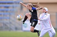 Monfalcone, Italy, April 26, 2016.<br /> USA's Vatne controls the ball during USA v Iran football match at Gradisca Tournament of Nations (women's tournament). Monfalcone's stadium.<br /> &copy; ph Simone Ferraro / Isiphotos