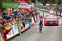victory for Sergio Higuita (COL/EF Education First) on stage 18<br /> <br /> Stage 18: Colmenar Viejo to Becerril de la Sierra (178km)<br /> La Vuelta 2019<br /> <br /> ©kramon