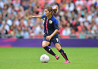 August 06, 2012..Japan's Nahomi Kawasumi #9 during Semi Final match at the Wembley Stadium on day ten in Wembley, England. Japan defeats France 2-1 to reach Women's Finals of the 2012 London Olympics.