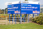 G Park advertising board for industrial units to let by Gazeley property developers, Swindon, England, UK