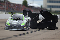 May 20, 2017; Topeka, KS, USA; NHRA funny car driver Chad Head during qualifying for the Heartland Nationals at Heartland Park Topeka. Mandatory Credit: Mark J. Rebilas-USA TODAY Sports