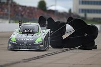 May 20, 2017; Topeka, KS, USA; NHRA funny car driver Chad Head during qualifying for the Heartland Nationals at Heartland Park Topeka. Mandatory Credit: Mark J. Rebilas-USA TODAY Sports